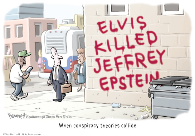 Cartoonist Clay Bennett  Clay Bennett's Editorial Cartoons 2019-08-13 accusation