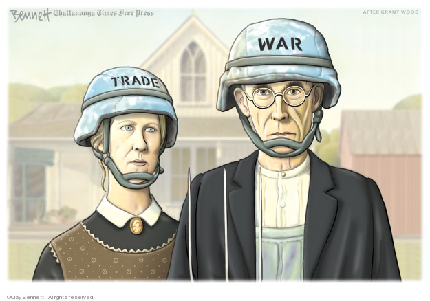 Clay Bennett  Clay Bennett's Editorial Cartoons 2019-08-16 international trade