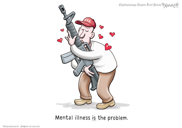 Cartoonist Clay Bennett  Clay Bennett's Editorial Cartoons 2019-08-17 gun control