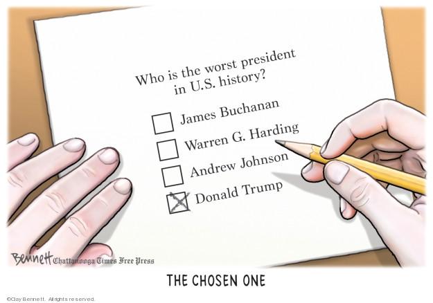 Cartoonist Clay Bennett  Clay Bennett's Editorial Cartoons 2019-08-23 American History