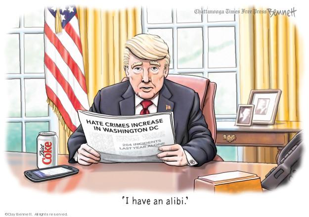 Clay Bennett  Clay Bennett's Editorial Cartoons 2019-08-27 crime