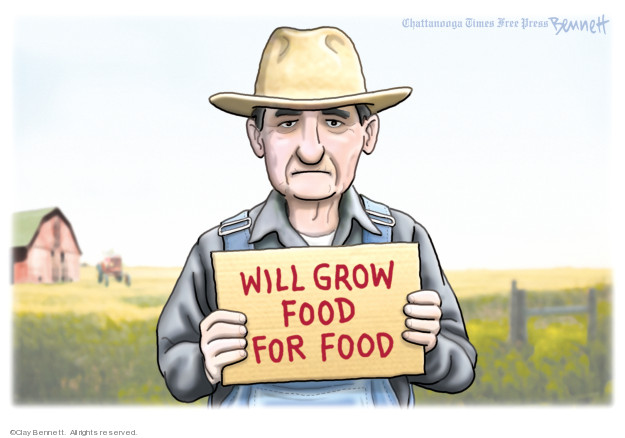 Clay Bennett  Clay Bennett's Editorial Cartoons 2019-08-28 Donald Trump farmer