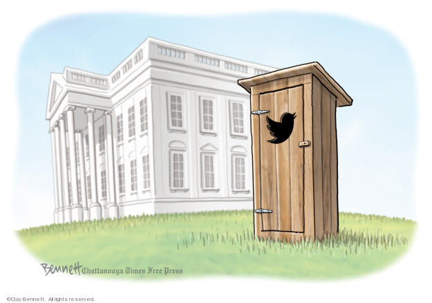 Clay Bennett  Clay Bennett's Editorial Cartoons 2019-08-30 social media politics