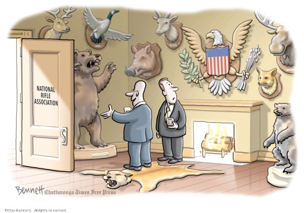 Cartoonist Clay Bennett  Clay Bennett's Editorial Cartoons 2019-09-03 gun control