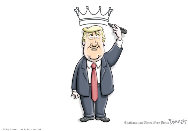 Cartoonist Clay Bennett  Clay Bennett's Editorial Cartoons 2019-09-18 democracy