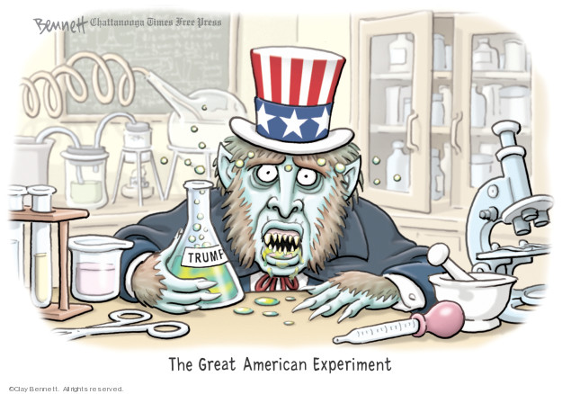 Cartoonist Clay Bennett  Clay Bennett's Editorial Cartoons 2019-09-21 American