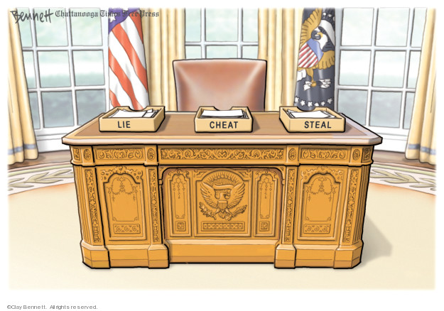 Cartoonist Clay Bennett  Clay Bennett's Editorial Cartoons 2019-09-27 office