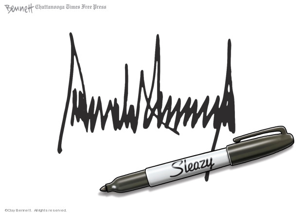 Clay Bennett  Clay Bennett's Editorial Cartoons 2019-10-02 Donald