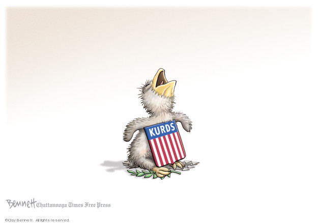 Cartoonist Clay Bennett  Clay Bennett's Editorial Cartoons 2019-10-13 assault