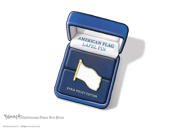 Cartoonist Clay Bennett  Clay Bennett's Editorial Cartoons 2019-10-19 attack
