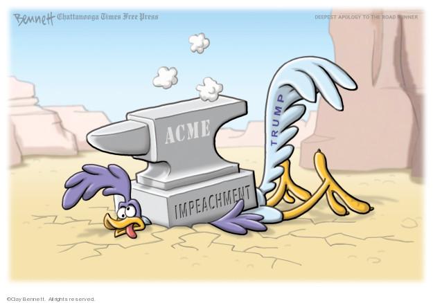 Clay Bennett  Clay Bennett's Editorial Cartoons 2019-11-03 investigation