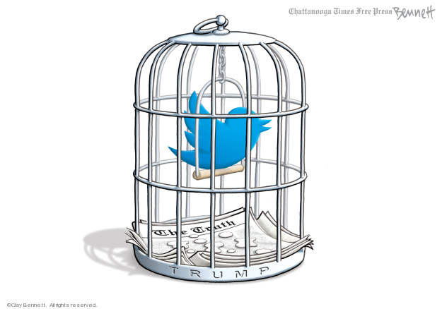 Clay Bennett  Clay Bennett's Editorial Cartoons 2019-11-05 social media politics