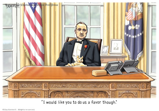 Cartoonist Clay Bennett  Clay Bennett's Editorial Cartoons 2019-11-12 investigation