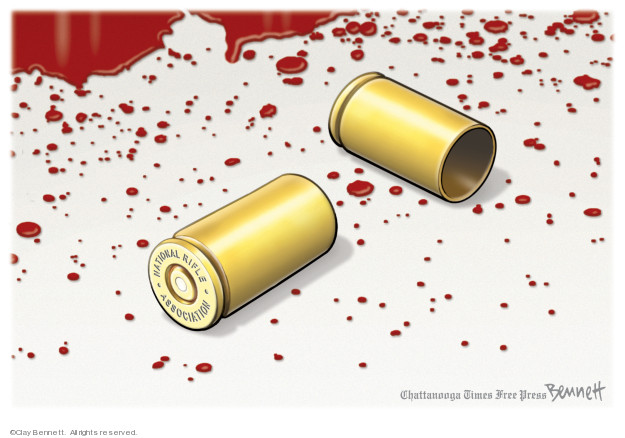Cartoonist Clay Bennett  Clay Bennett's Editorial Cartoons 2019-11-15 gun control