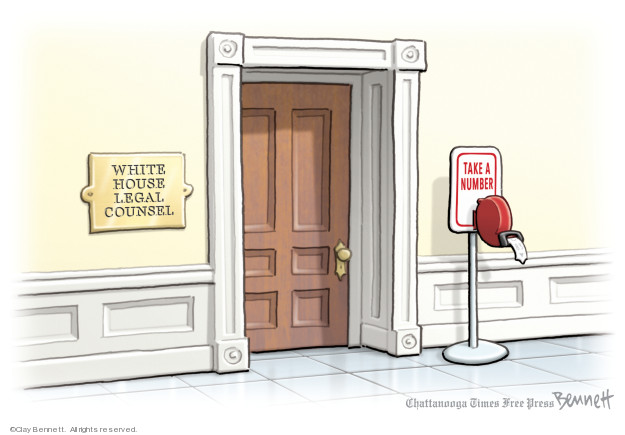 Cartoonist Clay Bennett  Clay Bennett's Editorial Cartoons 2019-11-22 Donald Trump Lawyers