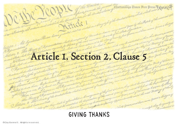 Cartoonist Clay Bennett  Clay Bennett's Editorial Cartoons 2019-11-28 American