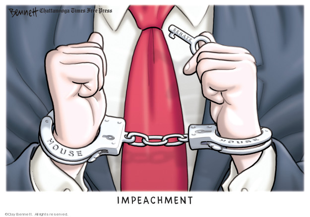 Cartoonist Clay Bennett  Clay Bennett's Editorial Cartoons 2019-12-04 investigation