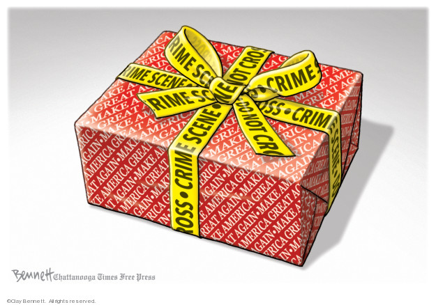 Cartoonist Clay Bennett  Clay Bennett's Editorial Cartoons 2019-12-11 editorial