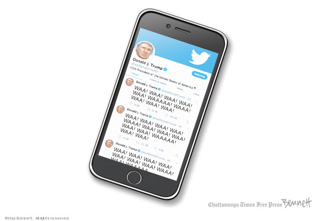 Clay Bennett  Clay Bennett's Editorial Cartoons 2019-12-14 social media politics