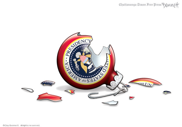 Cartoonist Clay Bennett  Clay Bennett's Editorial Cartoons 2019-12-24 democracy