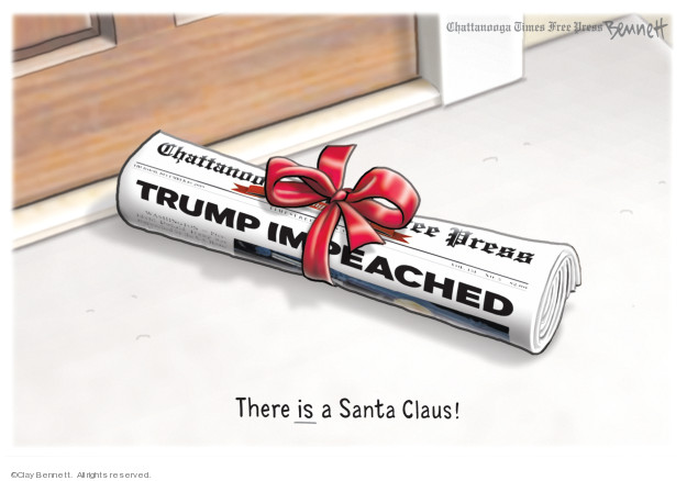 Cartoonist Clay Bennett  Clay Bennett's Editorial Cartoons 2019-12-25 editorial
