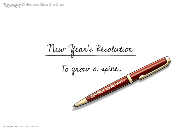 Cartoonist Clay Bennett  Clay Bennett's Editorial Cartoons 2019-12-31 republican politician