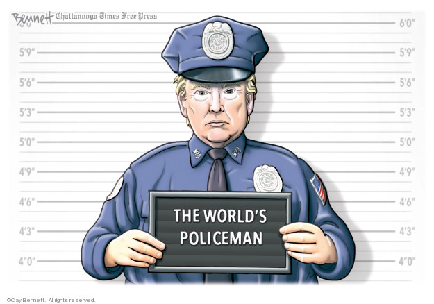 Cartoonist Clay Bennett  Clay Bennett's Editorial Cartoons 2020-01-07 Iraq