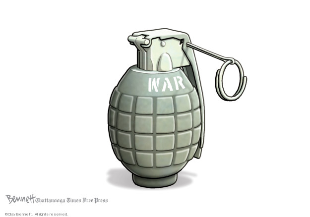 Cartoonist Clay Bennett  Clay Bennett's Editorial Cartoons 2020-01-08 attack