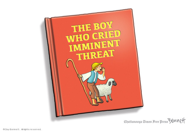 Cartoonist Clay Bennett  Clay Bennett's Editorial Cartoons 2020-01-14 attack
