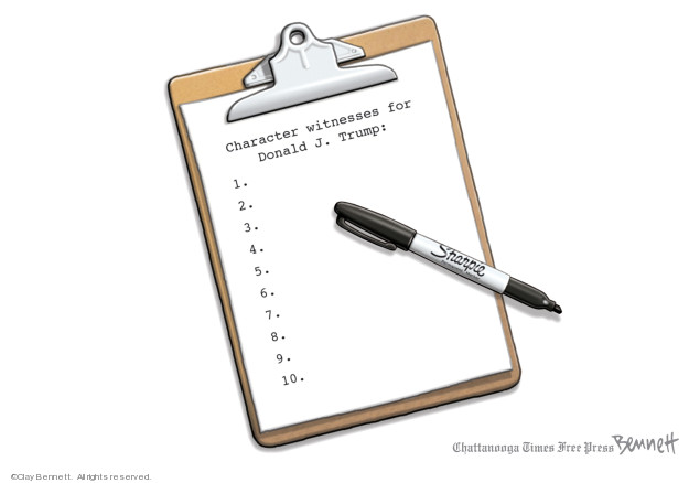 Cartoonist Clay Bennett  Clay Bennett's Editorial Cartoons 2020-01-22 president