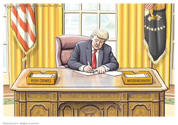 Cartoonist Clay Bennett  Clay Bennett's Editorial Cartoons 2020-01-24 president