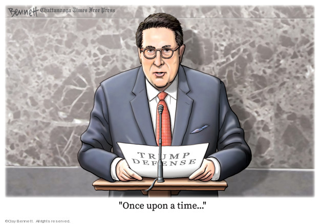 Cartoonist Clay Bennett  Clay Bennett's Editorial Cartoons 2020-01-25 Donald Trump Lawyers