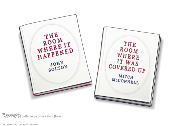 Cartoonist Clay Bennett  Clay Bennett's Editorial Cartoons 2020-01-28 book