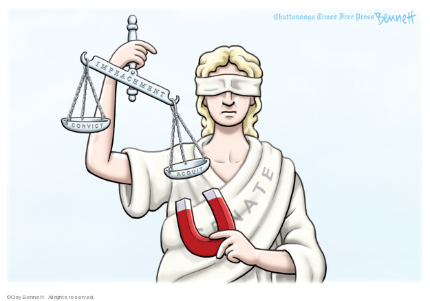 Clay Bennett  Clay Bennett's Editorial Cartoons 2020-02-02 impeachment
