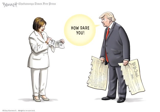 Cartoonist Clay Bennett  Clay Bennett's Editorial Cartoons 2020-02-09 president