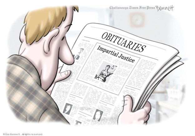 Clay Bennett  Clay Bennett's Editorial Cartoons 2020-02-08 abuse of power