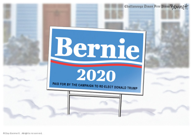 Cartoonist Clay Bennett  Clay Bennett's Editorial Cartoons 2020-02-11 primary election