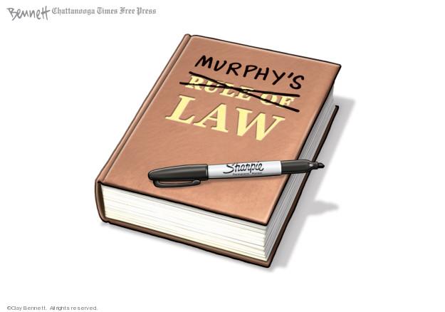 Clay Bennett  Clay Bennett's Editorial Cartoons 2020-02-16 rule of law