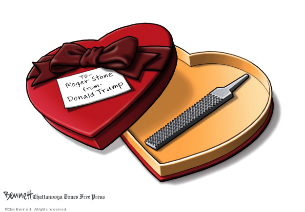 Cartoonist Clay Bennett  Clay Bennett's Editorial Cartoons 2020-02-15 Robert