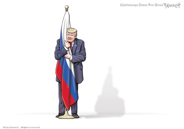 Cartoonist Clay Bennett  Clay Bennett's Editorial Cartoons 2020-02-22 president