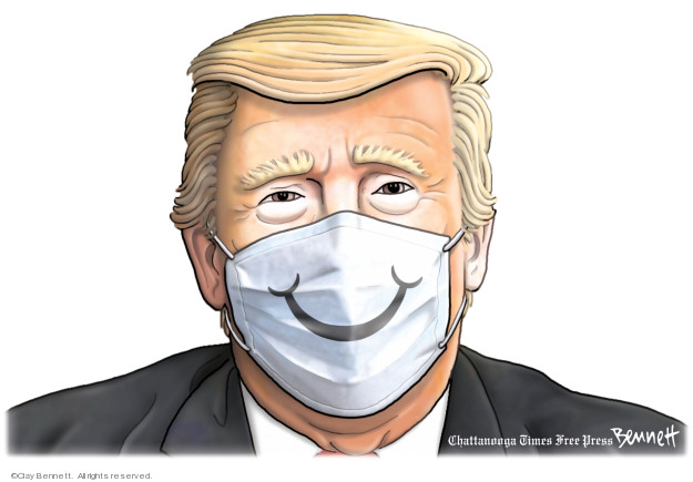 Cartoonist Clay Bennett  Clay Bennett's Editorial Cartoons 2020-03-01 president