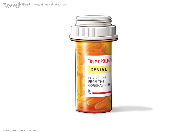 Cartoonist Clay Bennett  Clay Bennett's Editorial Cartoons 2020-02-28 president