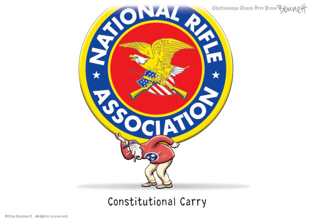 Cartoonist Clay Bennett  Clay Bennett's Editorial Cartoons 2020-02-29 gun control