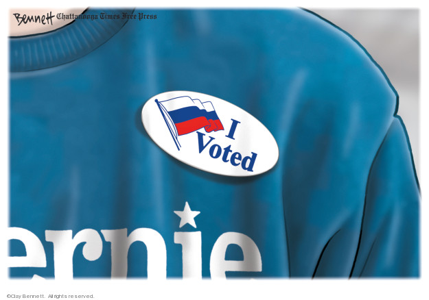 Cartoonist Clay Bennett  Clay Bennett's Editorial Cartoons 2020-03-03 vote