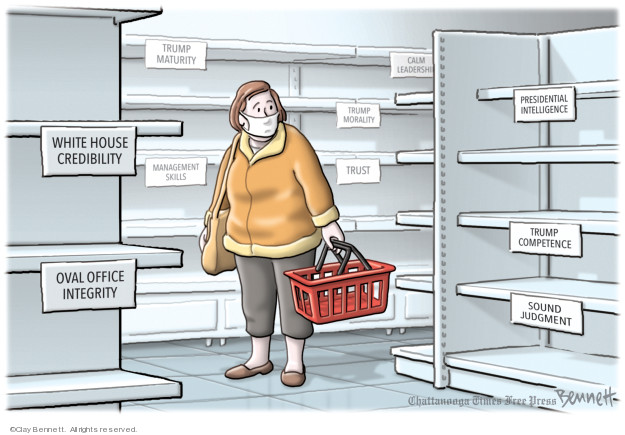 Cartoonist Clay Bennett  Clay Bennett's Editorial Cartoons 2020-03-11 office