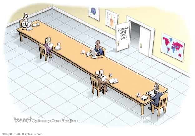 Cartoonist Clay Bennett  Clay Bennett's Editorial Cartoons 2020-03-15 coronavirus