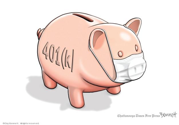 Cartoonist Clay Bennett  Clay Bennett's Editorial Cartoons 2020-03-10 recession