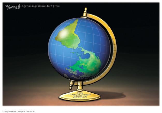 Clay Bennett  Clay Bennett's Editorial Cartoons 2020-03-18 global pandemic