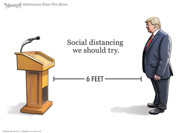 Cartoonist Clay Bennett  Clay Bennett's Editorial Cartoons 2020-03-24 president
