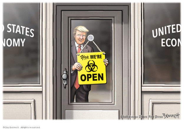 Cartoonist Clay Bennett  Clay Bennett's Editorial Cartoons 2020-03-27 president